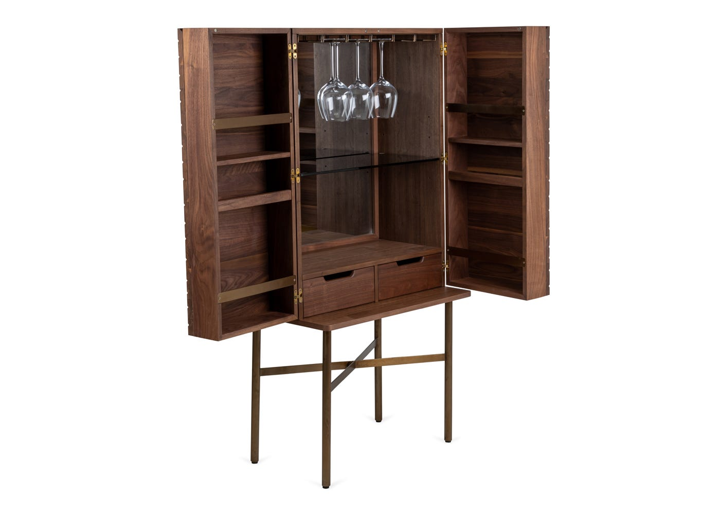 As shown: Valentina drinks cabinet.