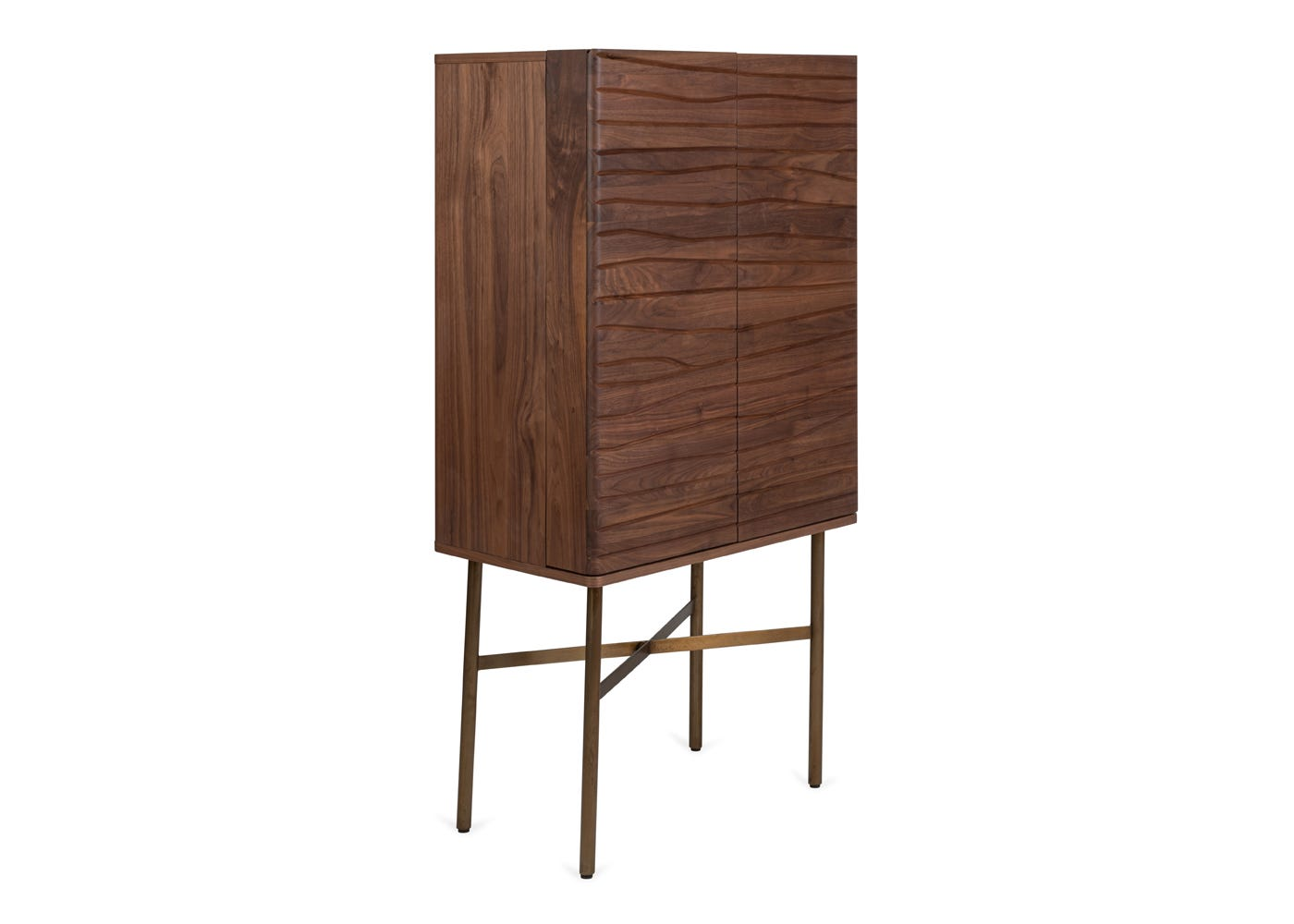 As shown: Valentina drinks cabinet - Side profile.