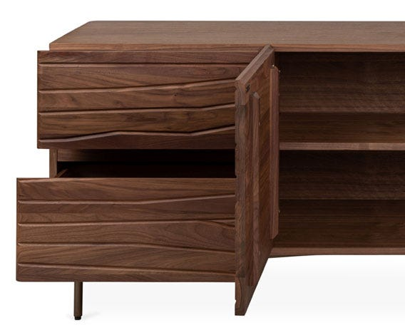 Features one soft close central drawer; perfect storage for smaller items.