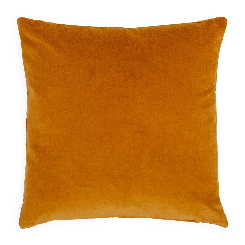 Velvet Cushion Ochre 45 x 45cm