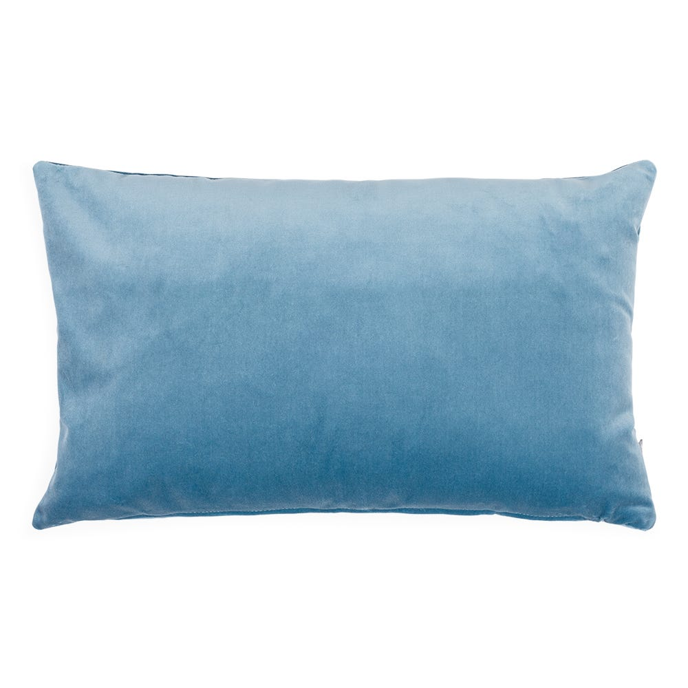 Velvet Cushion Slate Blue 35 x 55cm