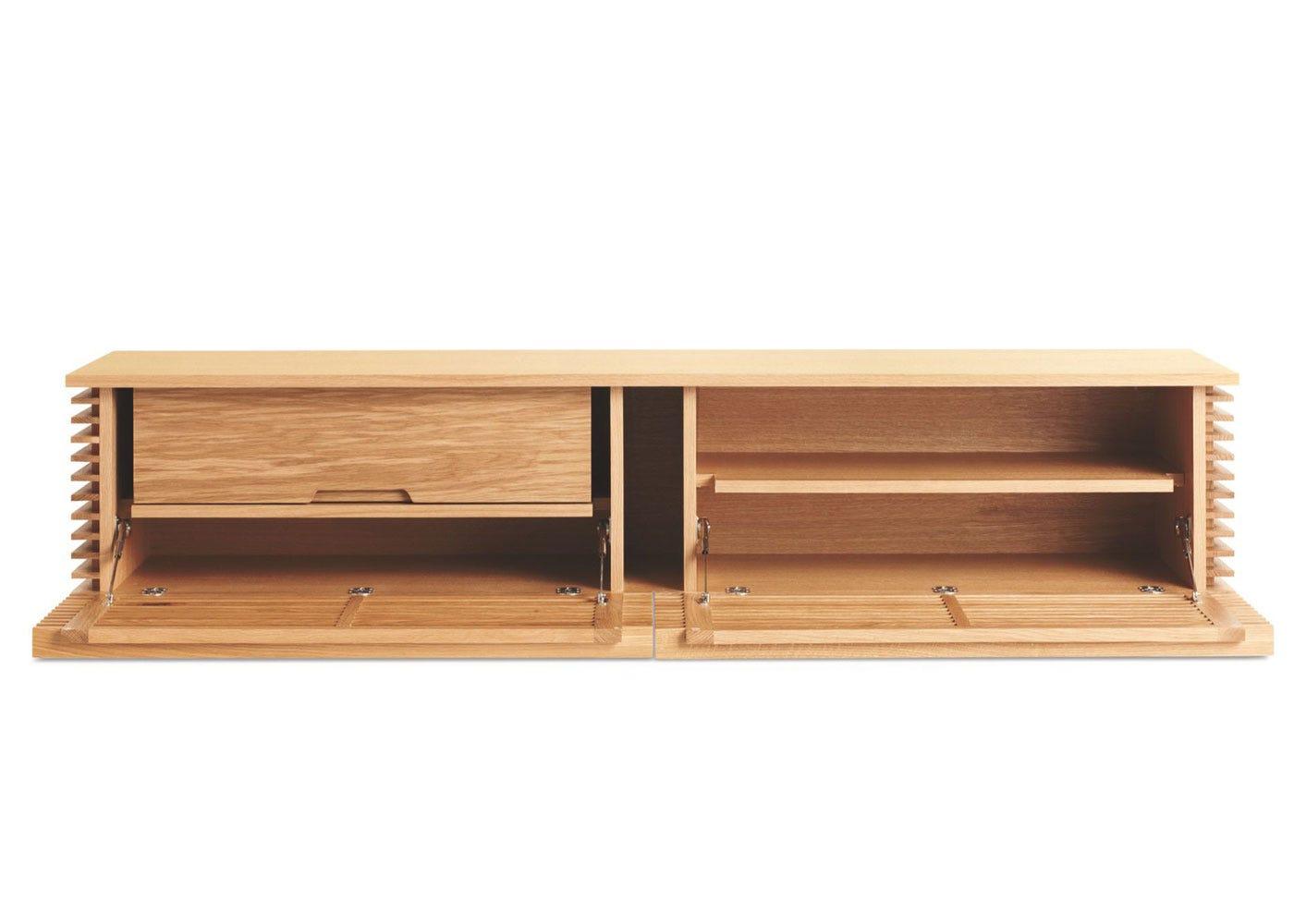 As shown: Verona AV unit narrow in oak - interior.