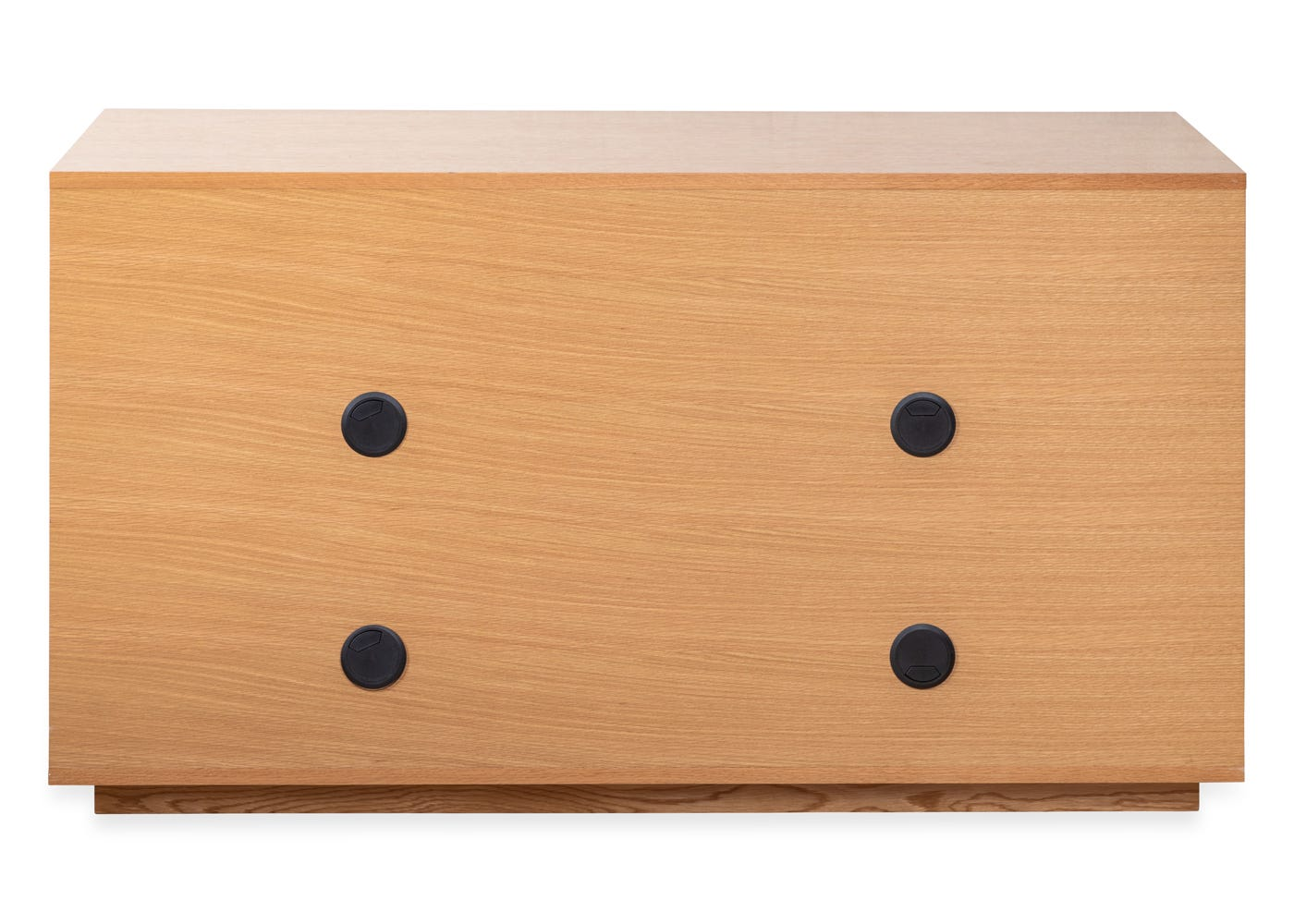 As shown: Verona small sideboard in oak - rear profile cable management system holes