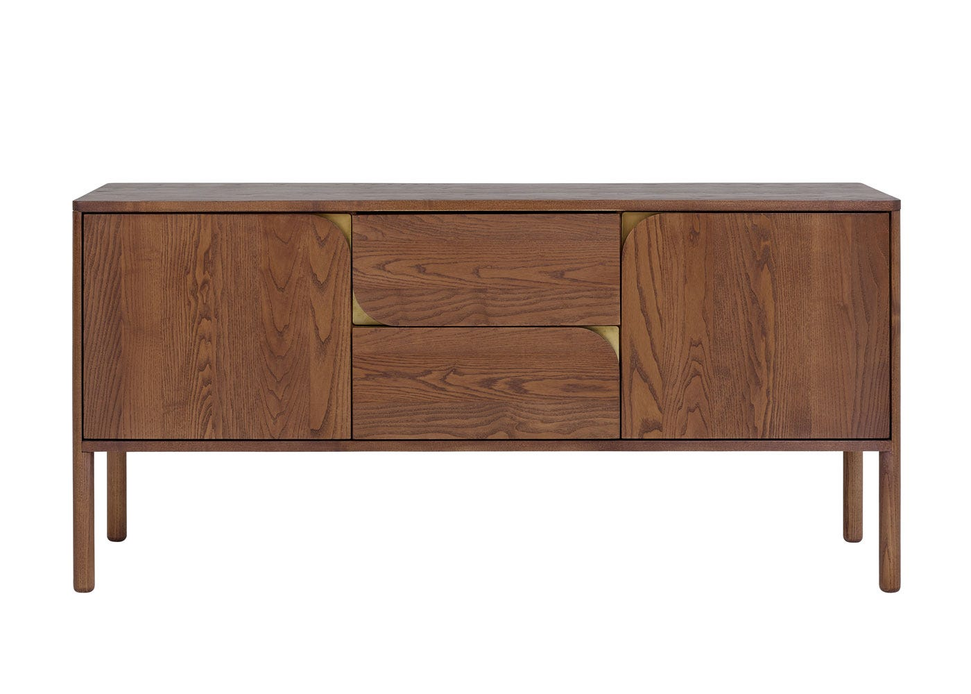 As shown: Verso Sideboard Large Dark Wood - Front profile.
