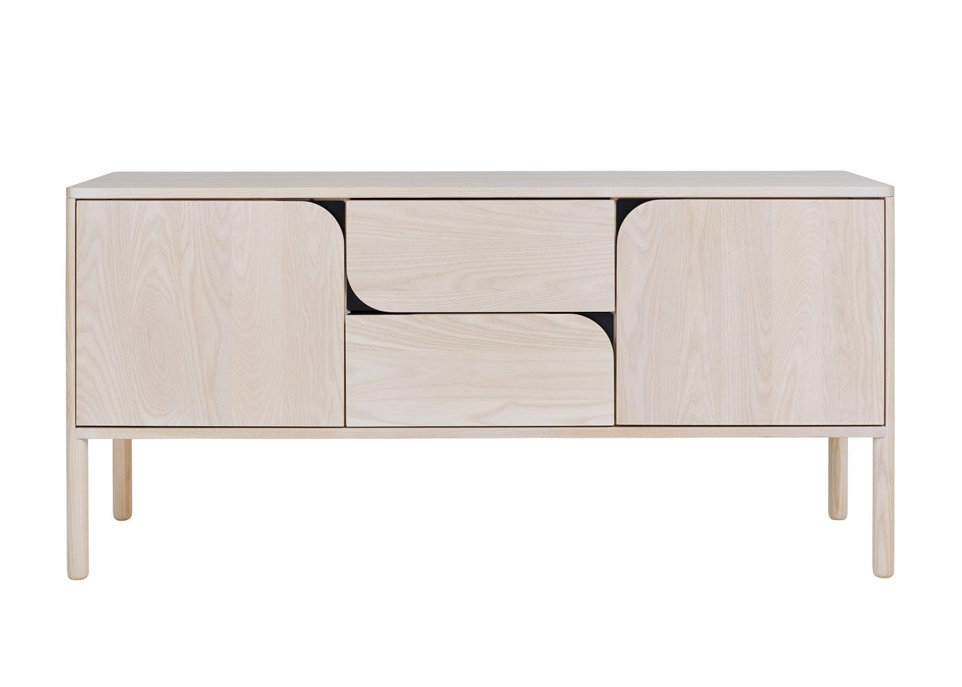 As shown: Verso Sideboard Large Whitened Ash - Front profile.