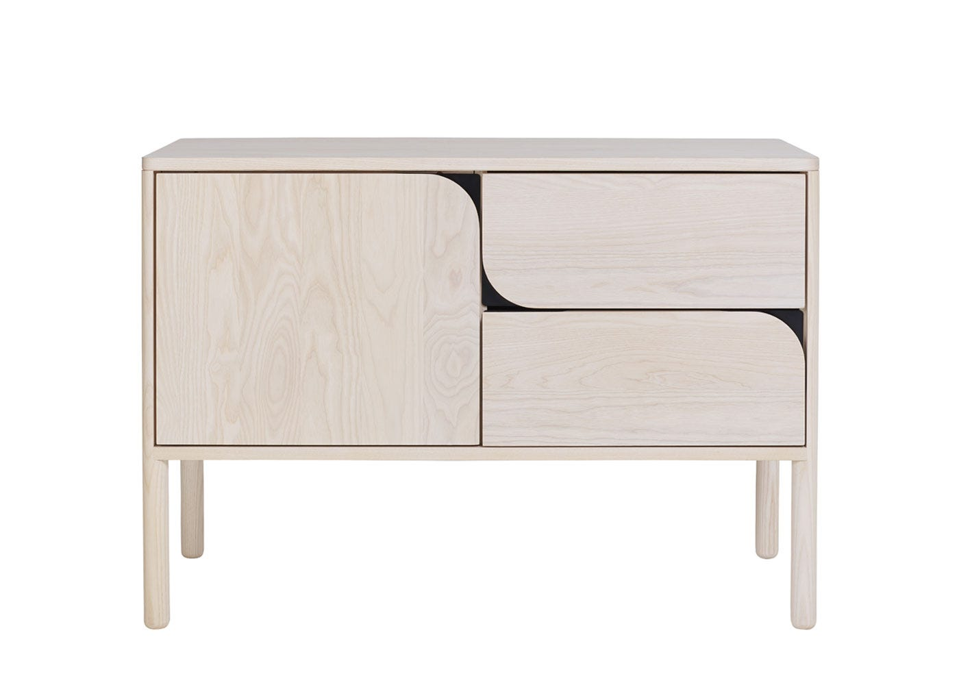 As shown: Verso Sideboard Small Whitened Ash - Front profile