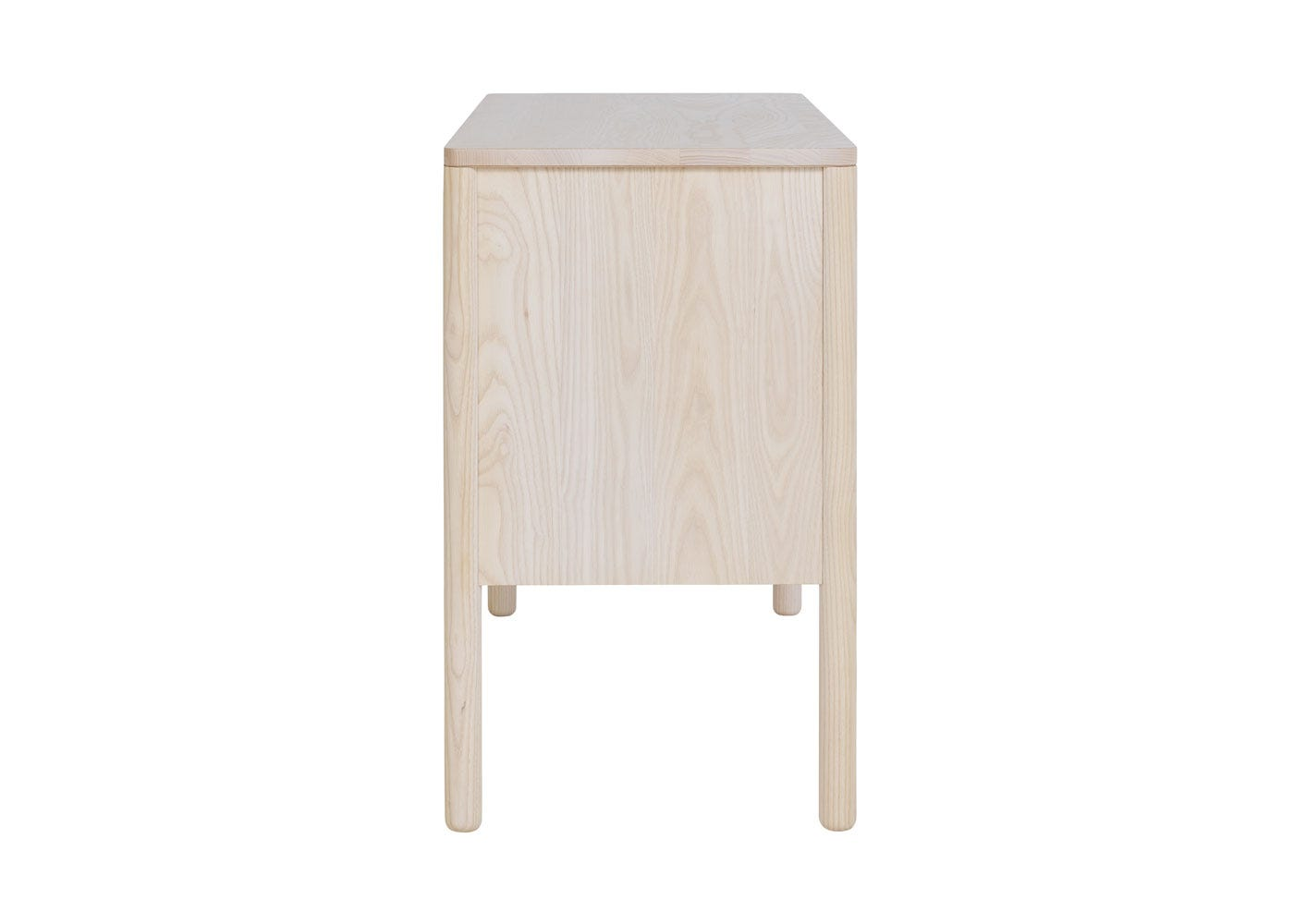 As shown: Verso Sideboard Small Whitened Ash - Side profile.