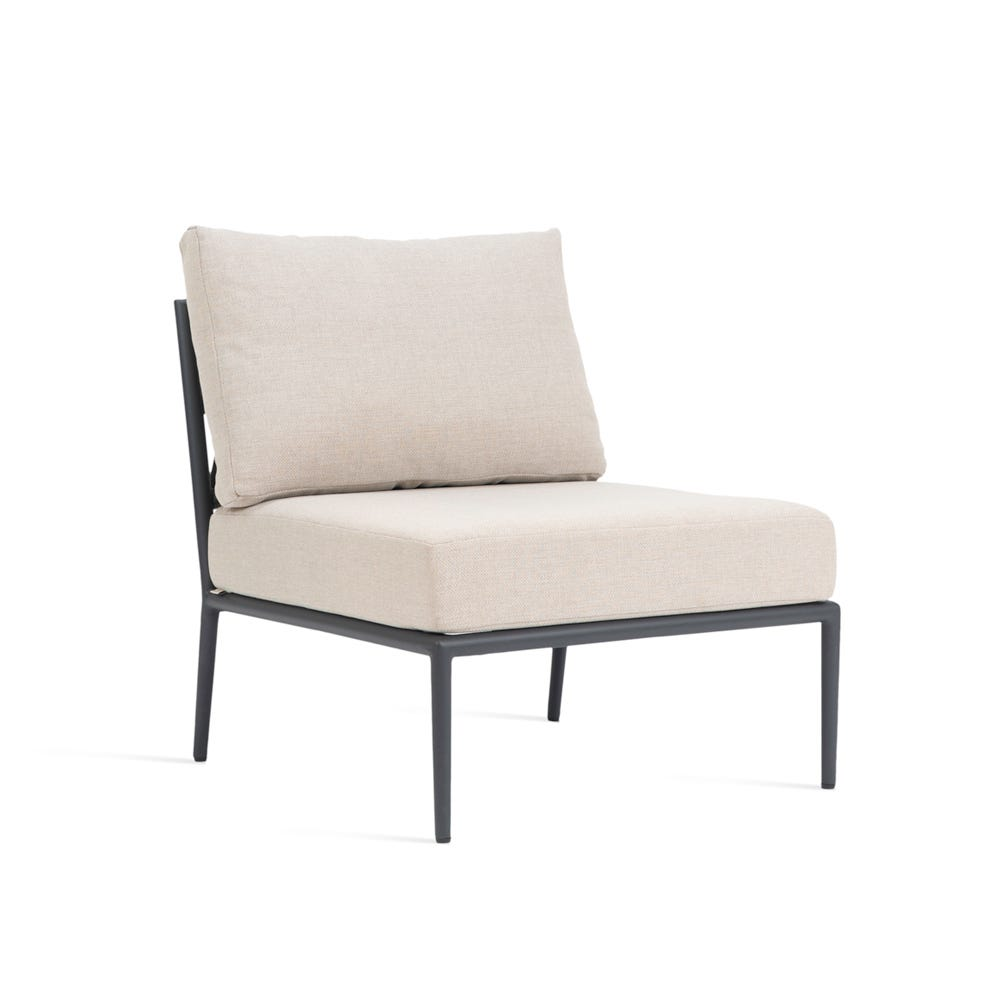 Leo Modular Outdoor Sofa Single Piece Almond Fabric