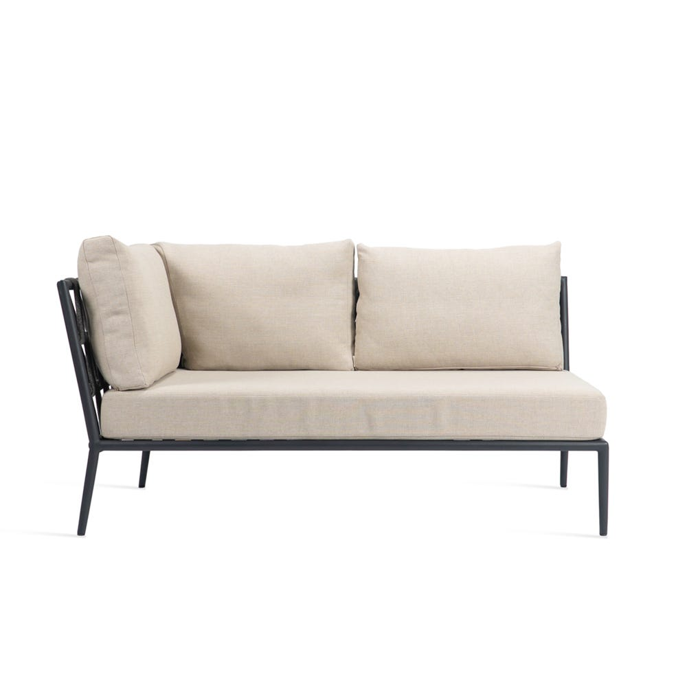 Leo Modular Outdoor Sofa Left Hand Corner Section Almond Fabric
