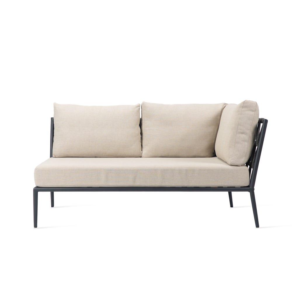 Leo Modular Outdoor Sofa Right Hand Corner Section Almond Fabric