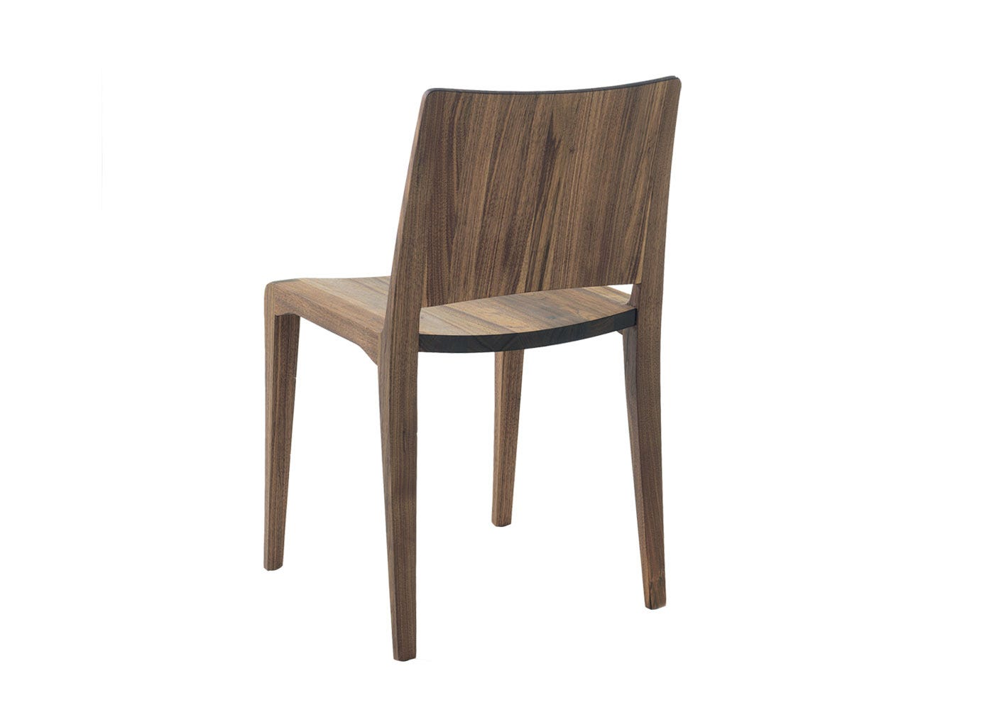 As Shown: Voltri Dining Chair Walnut Back