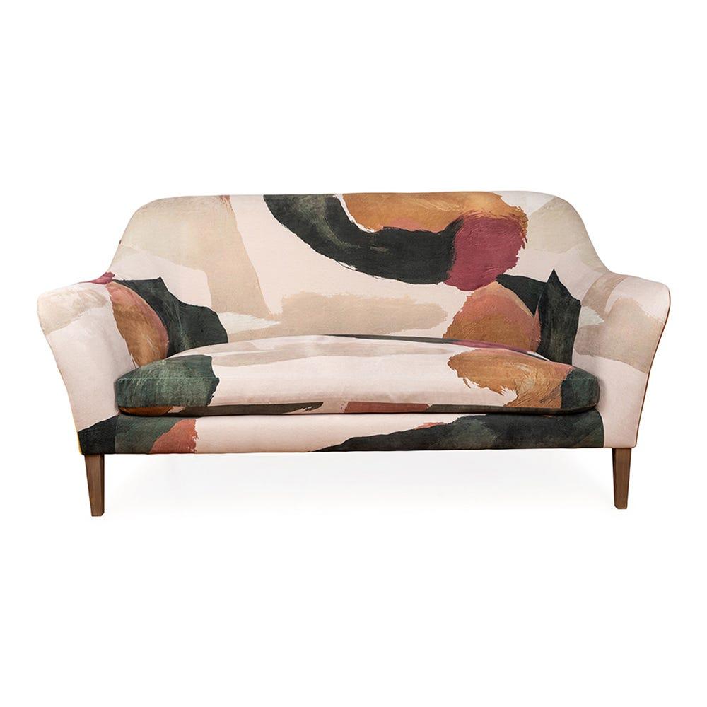 Wallis 3 Seater Sofa Smart Luxe Velvet Aura