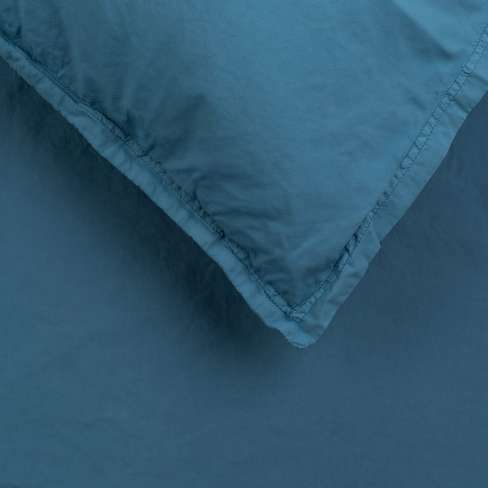 Washed Cotton Bed Linen Air Blue