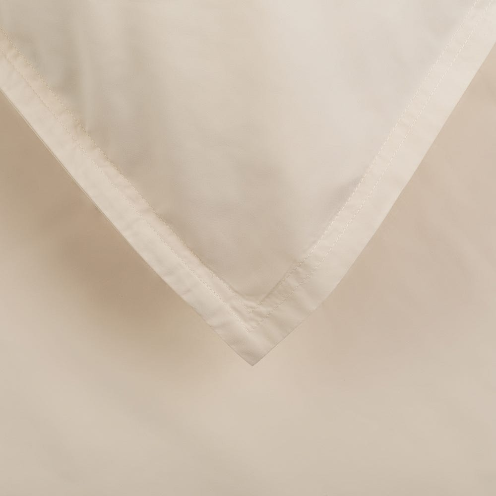 Washed Cotton Fitted Sheet Cream Super King