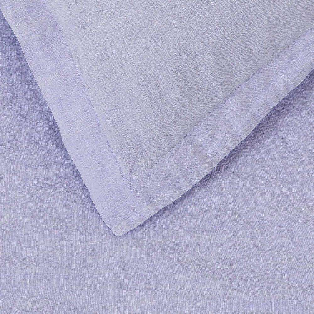 Washed Linen Lilac Duvet Cover Super King