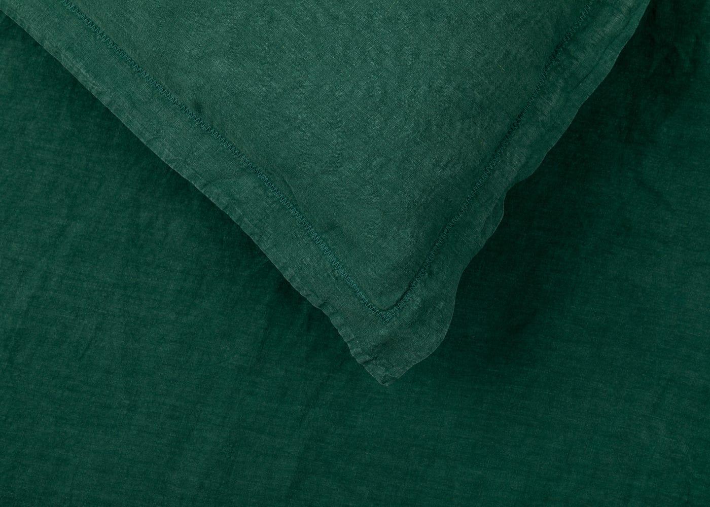 Washed Linen Forest Green Duvet Cover Super King Heal S Uk