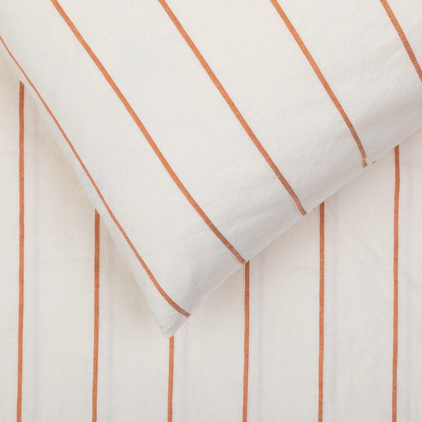 Washed Stripe Duvet Cover Super King