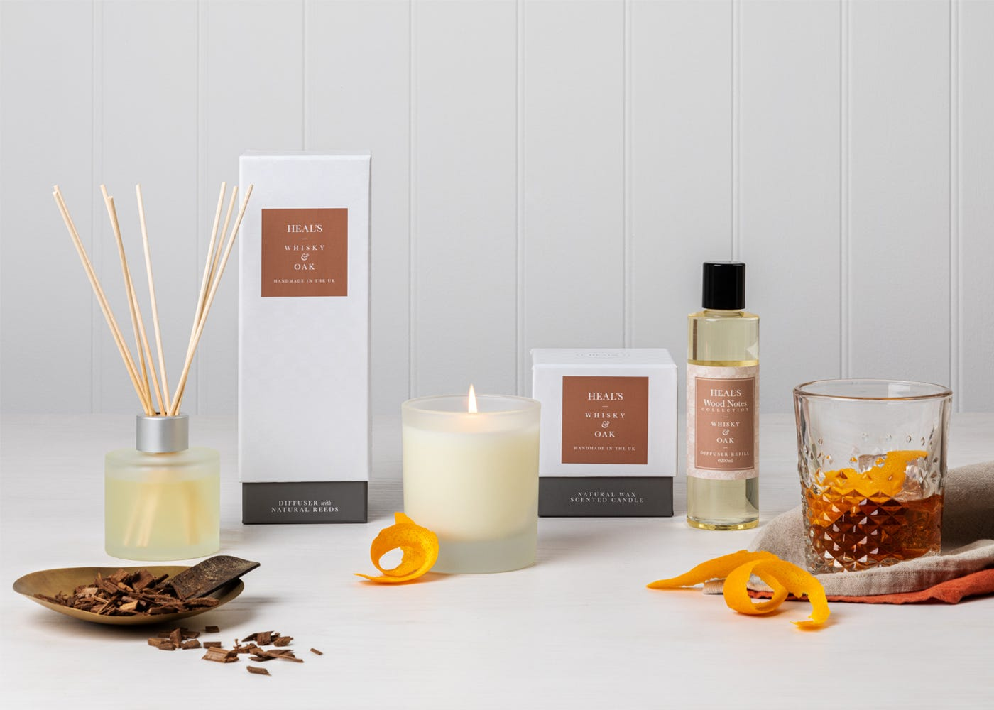 Whisky and Oak fragrance collection