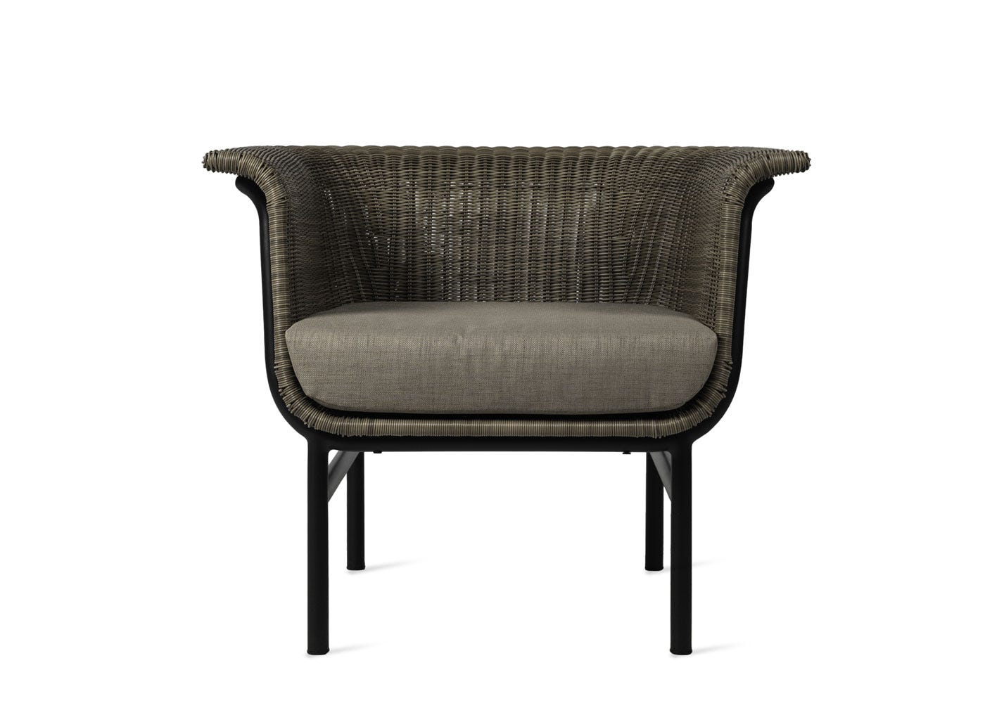 Wicked lounge chair taupe material - Front profile