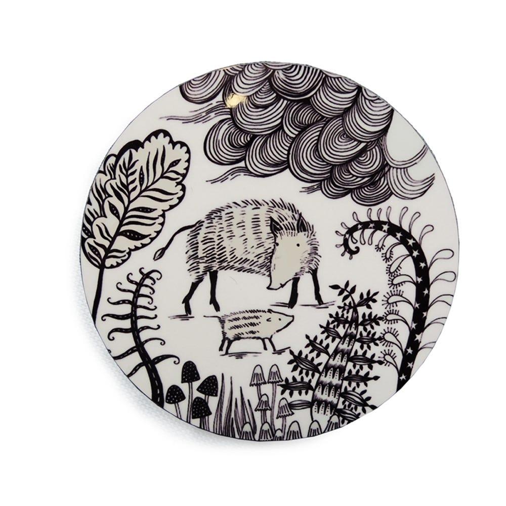 Lush Designs Wild Boar Coasters Set of 4
