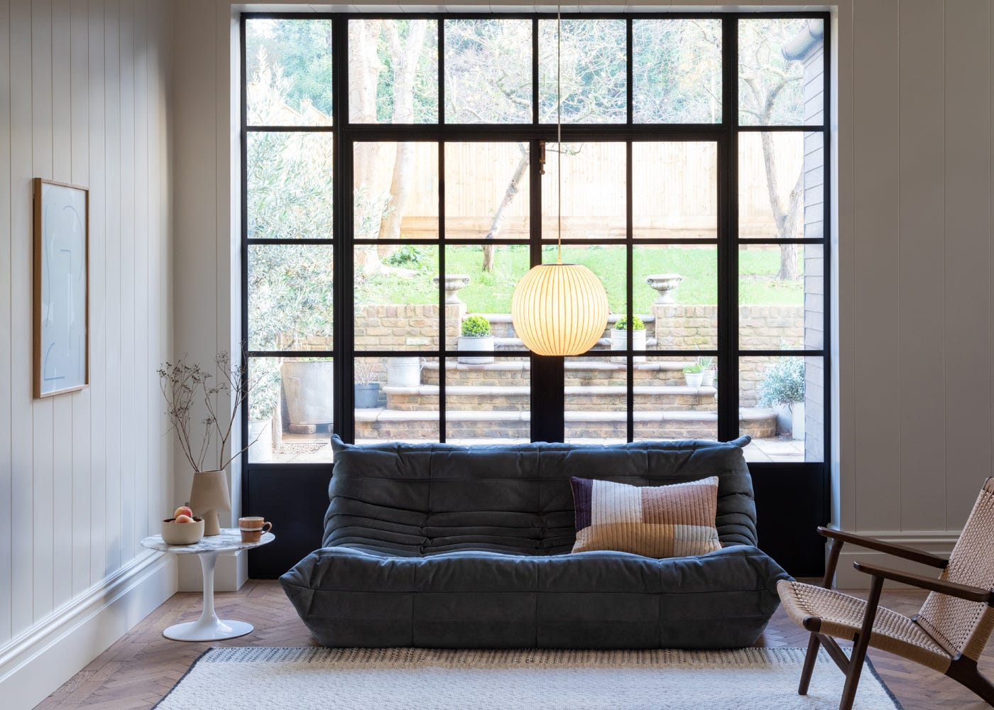 Togo Large Settee in Chic Grey