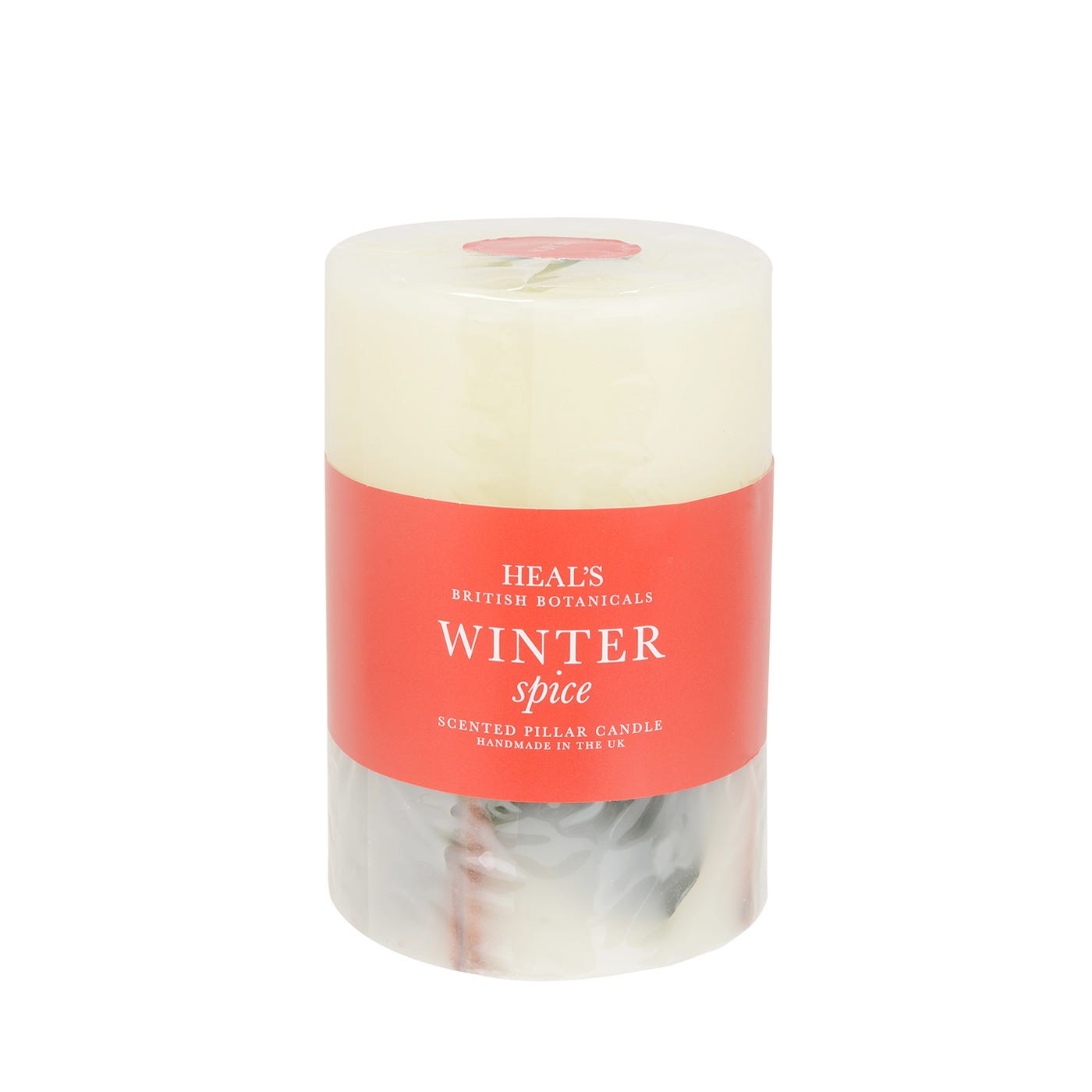Winter Spice Tall Pillar Candle With Botanicals