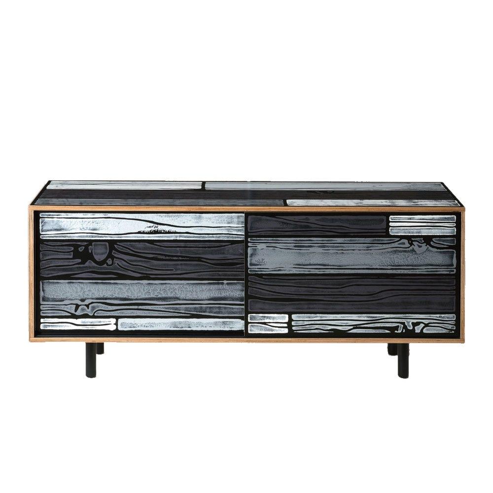 Wrongwoods Low Cabinet Light & Dark Grey